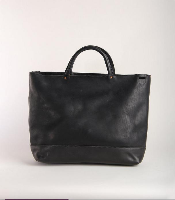 Fleabags Black Leather Satchel Crossbody Bag
