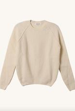 masscob Rib Ragland Sleeve Cream Pullover