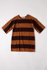Ace & Jig Liv Mini  Caramel & Brown Wide Horizontal Striped Dress