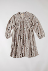 Natalie Martin A-Line grey neutral floral rayon Dress