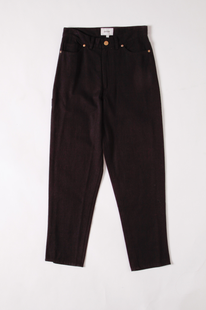 Polder Cotton Twill Black Ankle tapered Pants