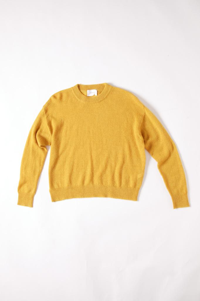 Sita Murt oversized thin knit Gold crewneck Sweater