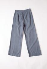 lacausa tencel cotton blend sage wide leg Trousers