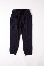 Ace & Jig Navy/Black Print Cotton cuffed Jogger pants with drawstring