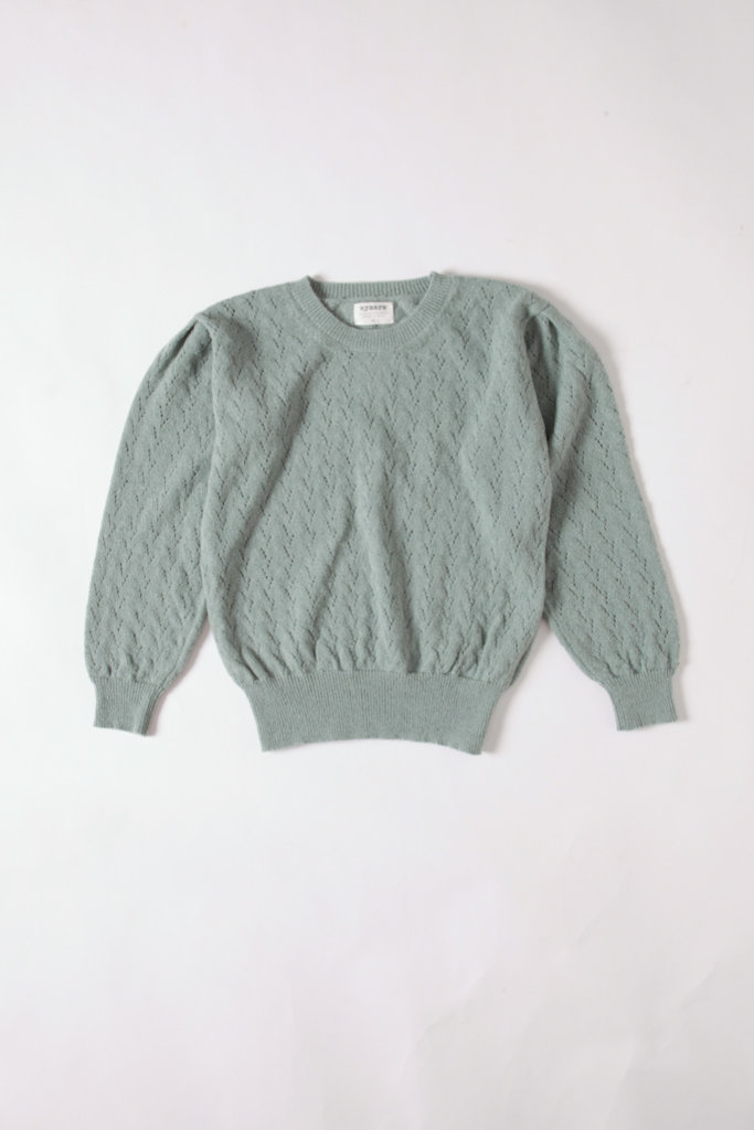 Aymara Kristel Lace Knit Crew Neck Sweater