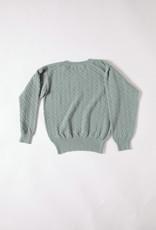 Aymara Kristel Lace Knit Crew Neck Sweater