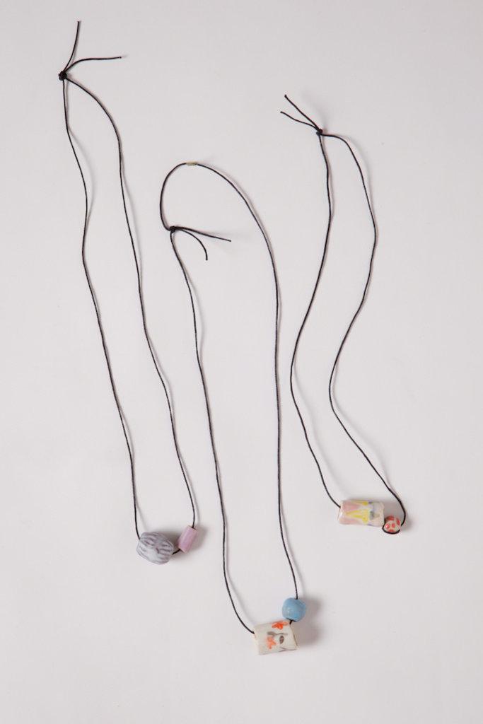 Alice Cheng Studio Multi Ceramic Beads Necklaces