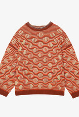 Soeur Orange tones  Intarsia knit Sweater