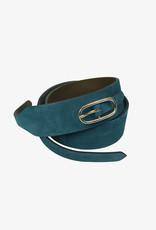 Soeur Front buckle suede wide belt