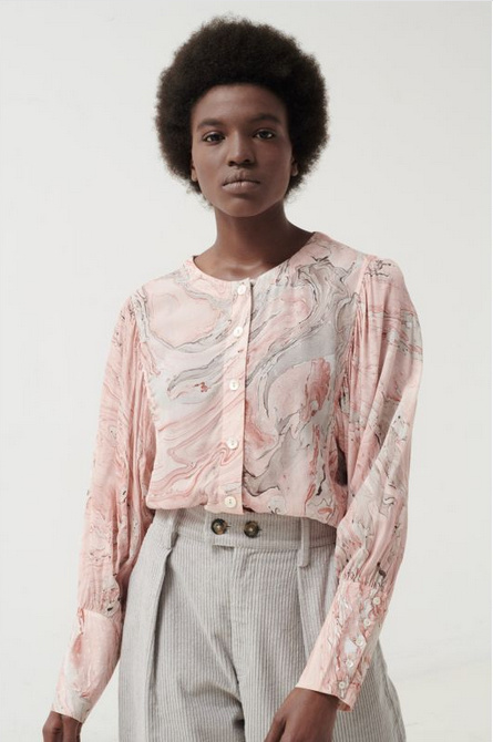 Button Up Blouse with Full Sleeves