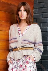 Xirena Ivory Knit Cardigan with Subtle stripes