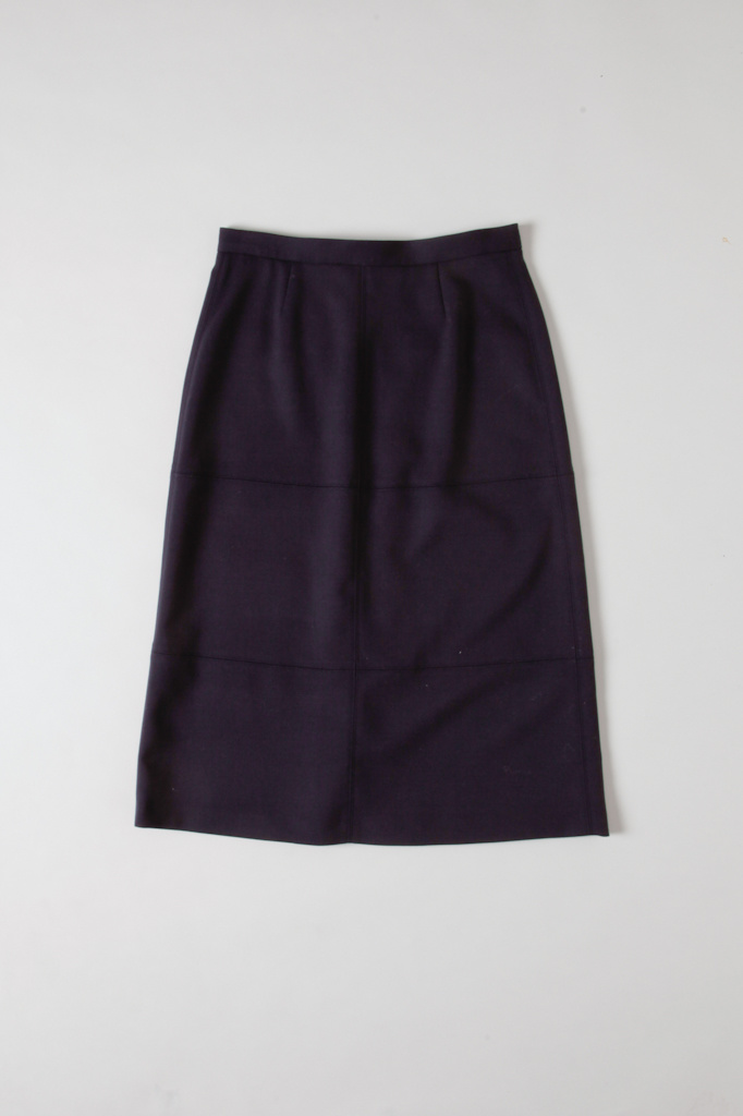 Soeur Solid Navy Skirt with pocket zips