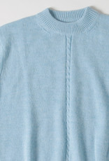 Soeur Sky Blue Wool Sweater with Cableknit Detail
