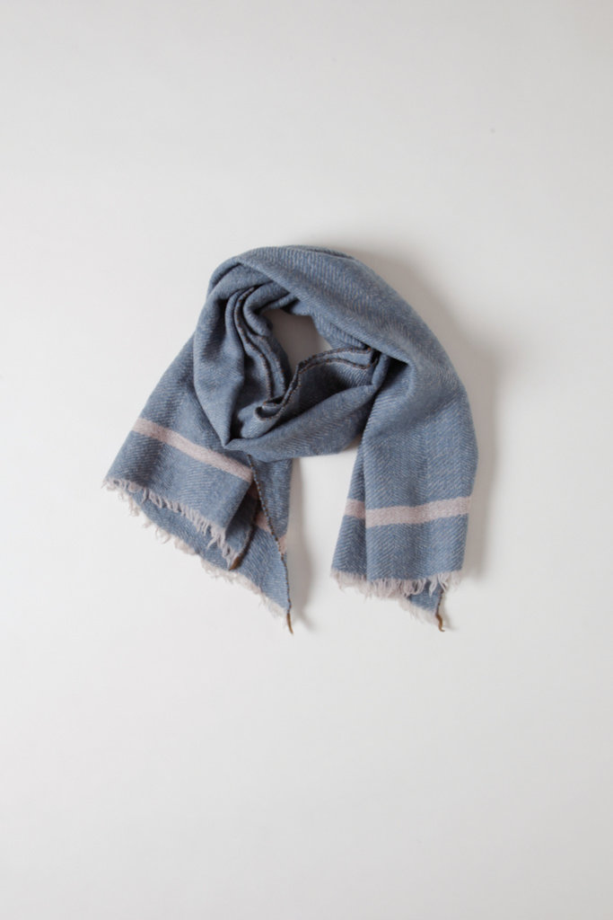Mois Mont Pale Blue Wool Scarf