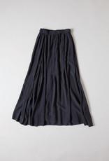 Ankle Length Grey Rayon Skirt