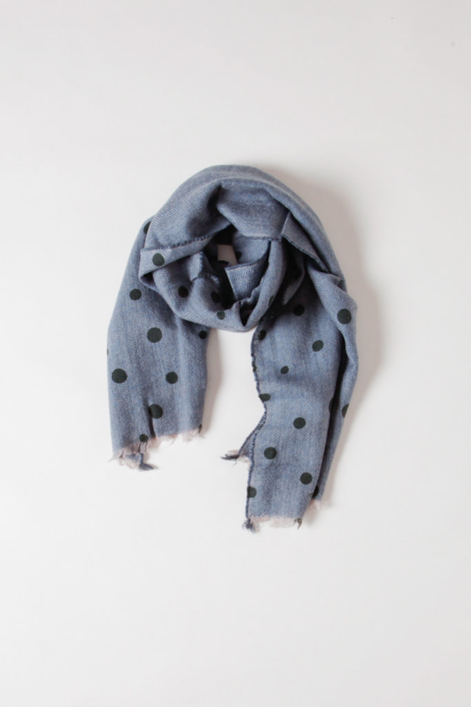 Mois Mont Soft Blue Wool Scarf