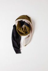 Mois Mont Olive, Navy, and Cream Square Scarf