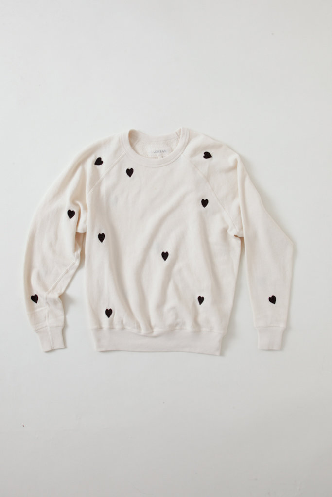 The College Sweatshirt W. Heart Emb