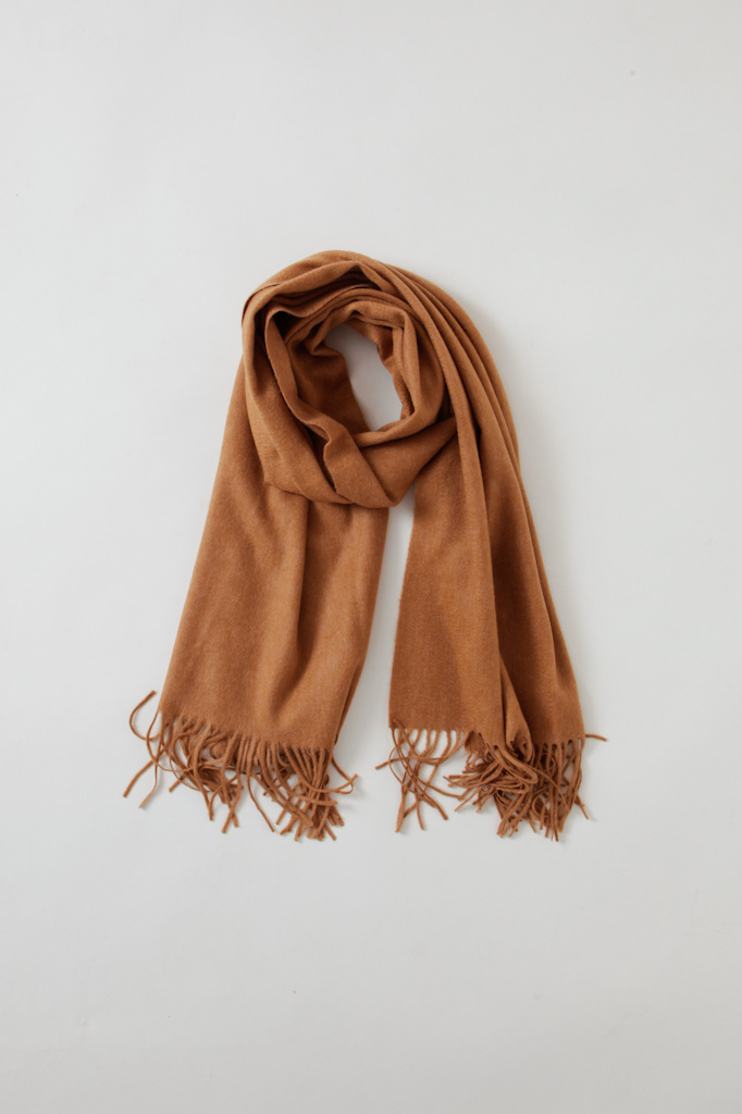 CT Plage Luxe Camel Cashmere Scarf