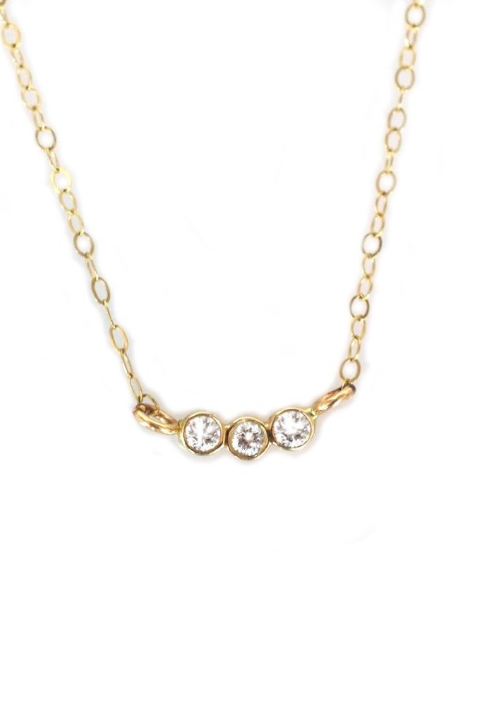 La Kaiser Gold Diamond Trio Necklace