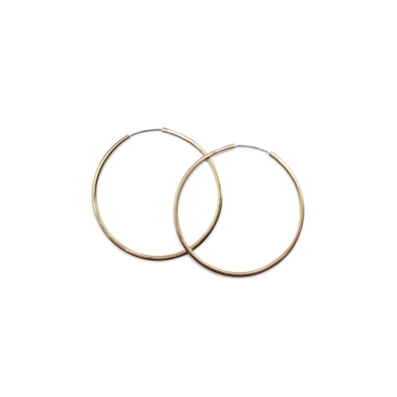 Amanda Hunt Gold Filled Continous Medium Hoops