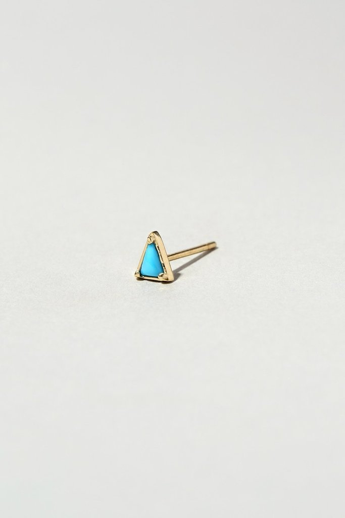 Single triangle stud- Various Stones