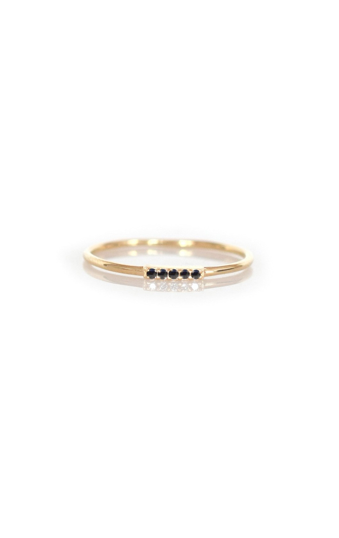 La Kaiser Gold Black Diamond Bar Ring
