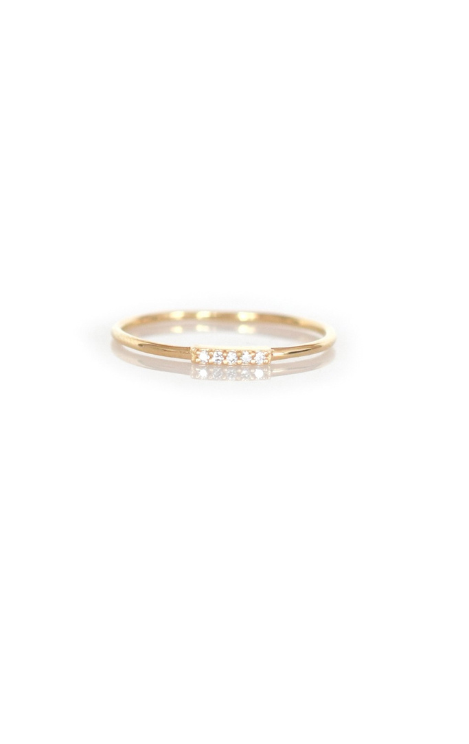 La Kaiser Gold Diamond Bar Ring