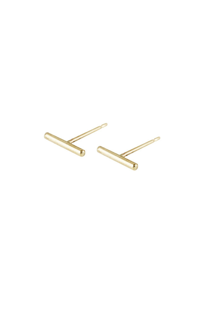 Lumo Rose Gold Staple Studs