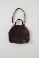 Steel Grey Rounded Large Shoulder Bag