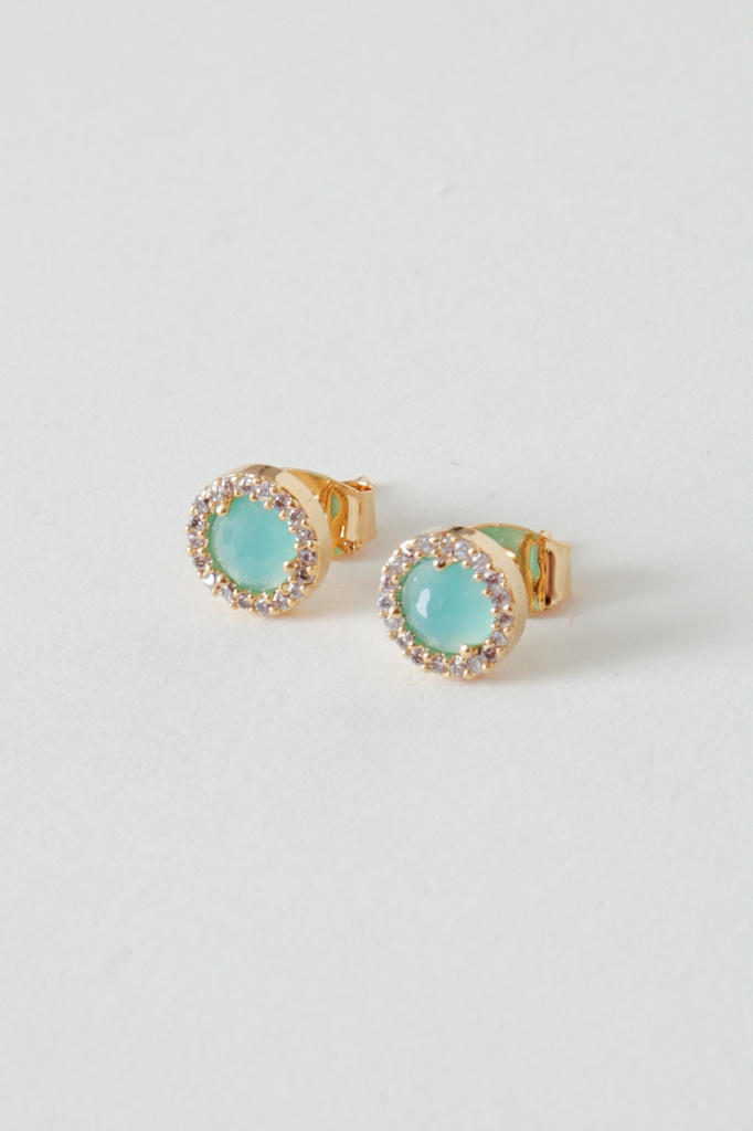Tai Gold Filled Glass Studs - Multiple Colors