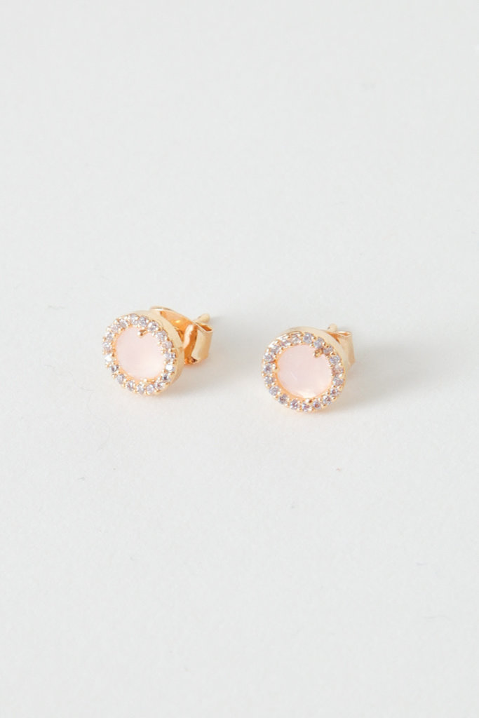 Gold Filled Glass Studs - Multiple Colors