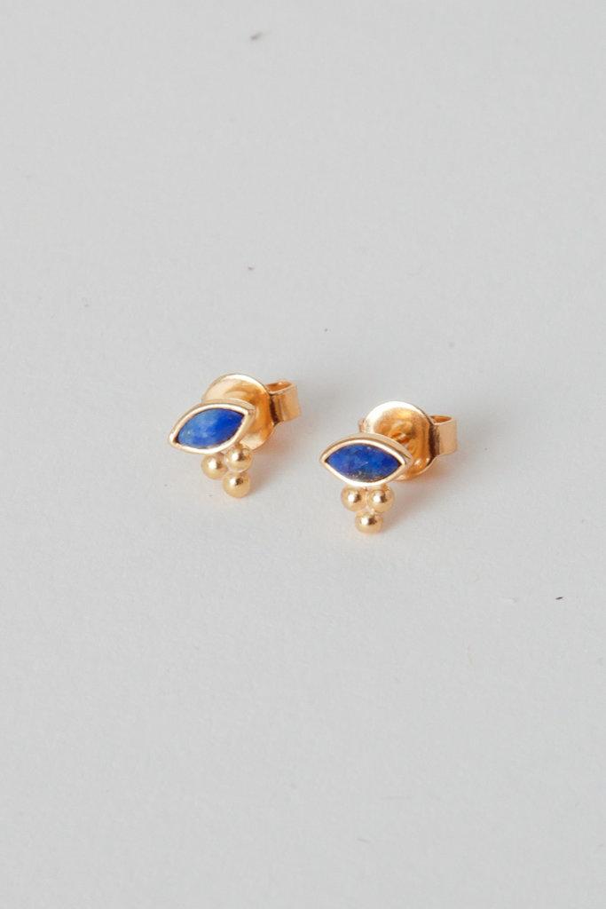 Tai Mini lapis Eye Studs Gold Vermeil