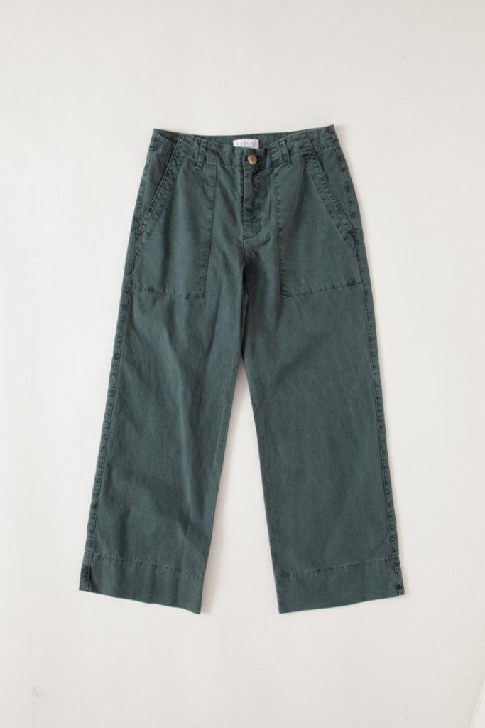 Velvet Olive Wide Leg Cotton Pants