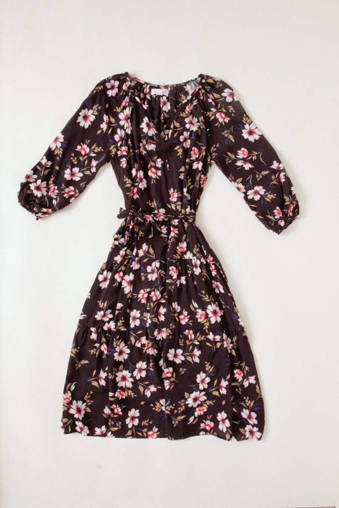Velvet Floral Printed  Tiered Flowy Dress