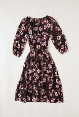 Velvet Maddy Dress - Floral Printed  Tiered Flowy Dress
