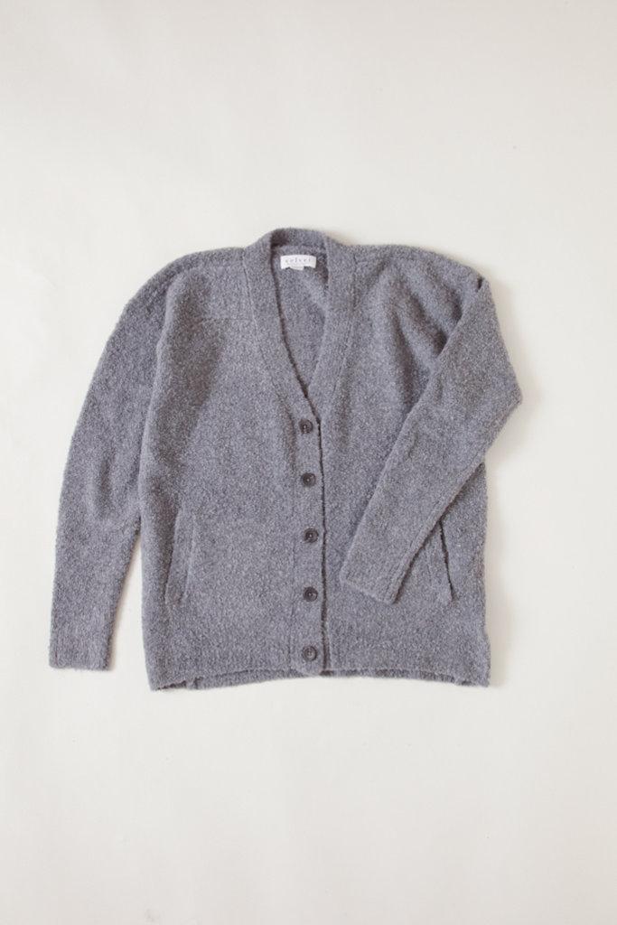 Velvet Soft Alpaca Wool Blend grey cardigan