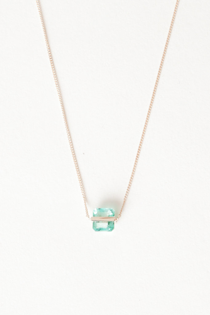 Januka Square Emerald Necklace