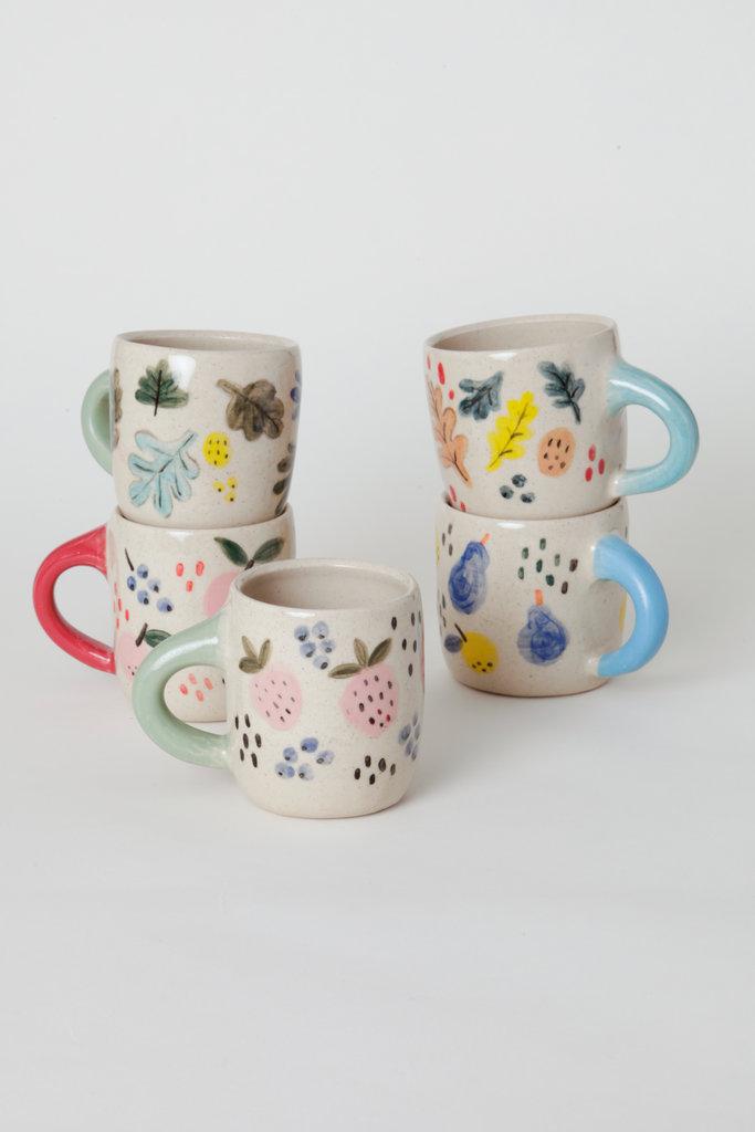 Alice Cheng Studio Ceramic Fruit Mugs Hand Painted - Assorted