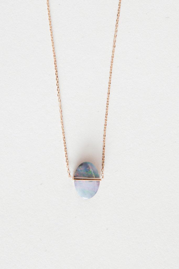 Januka Large Oval Opal Necklace
