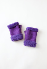 Toasties Purple Fingerless  Shearling Mittens