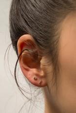 Jennie Kwon White Diamond Gold Bar Stud Earrings