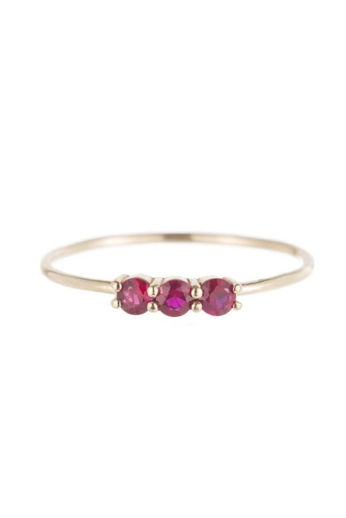 Jennie Kwon Triple Ruby Gold Ring