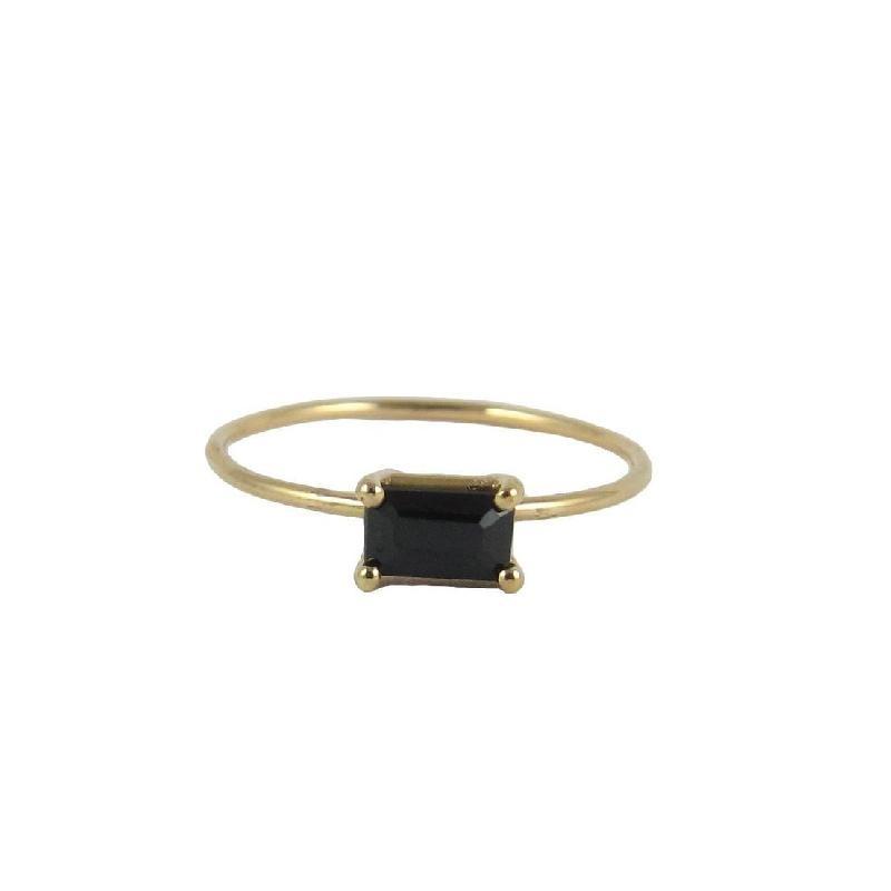 Jennie Kwon 14kt  black Onyx Baguette Setting Ring