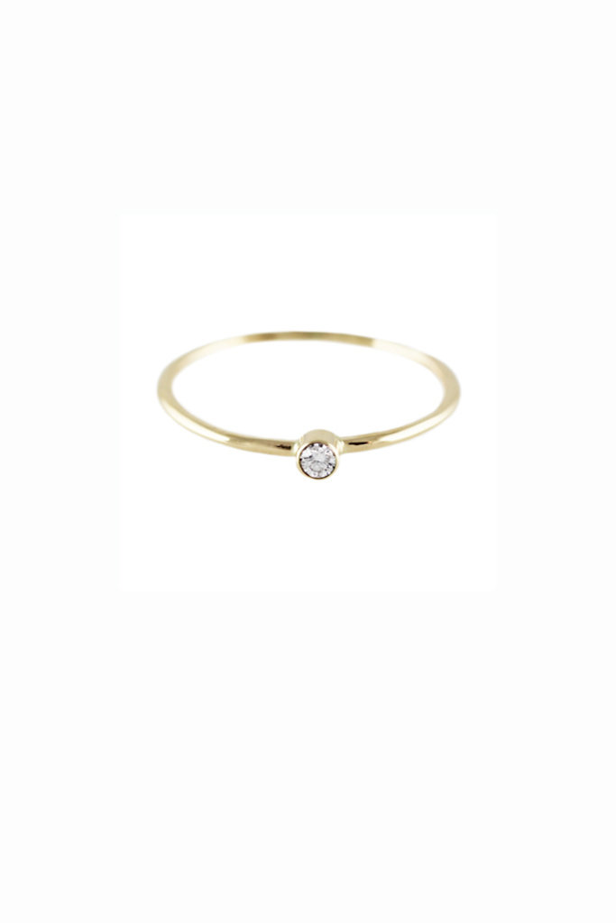 Lumo Stacking Diamond Gold Ring