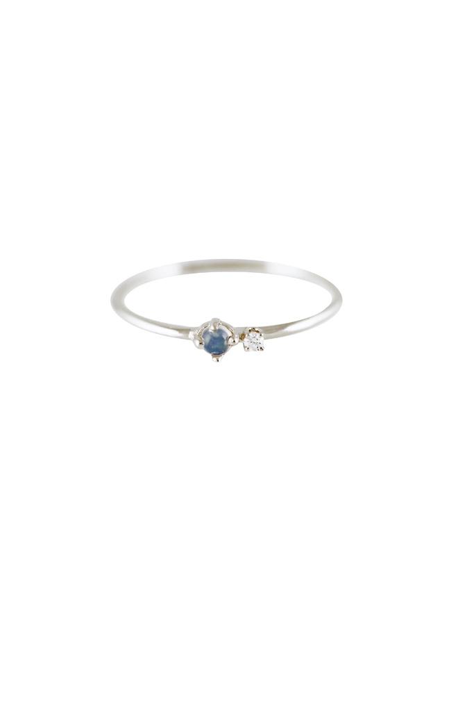 Lumo Silver  Opal  & Topaz Ring