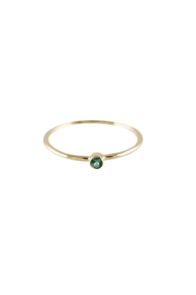 Lumo Single Emerald Ring