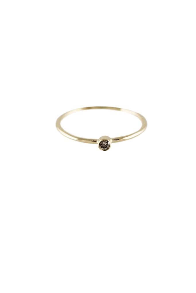 Lumo Cognac Diamond gold stacking Ring