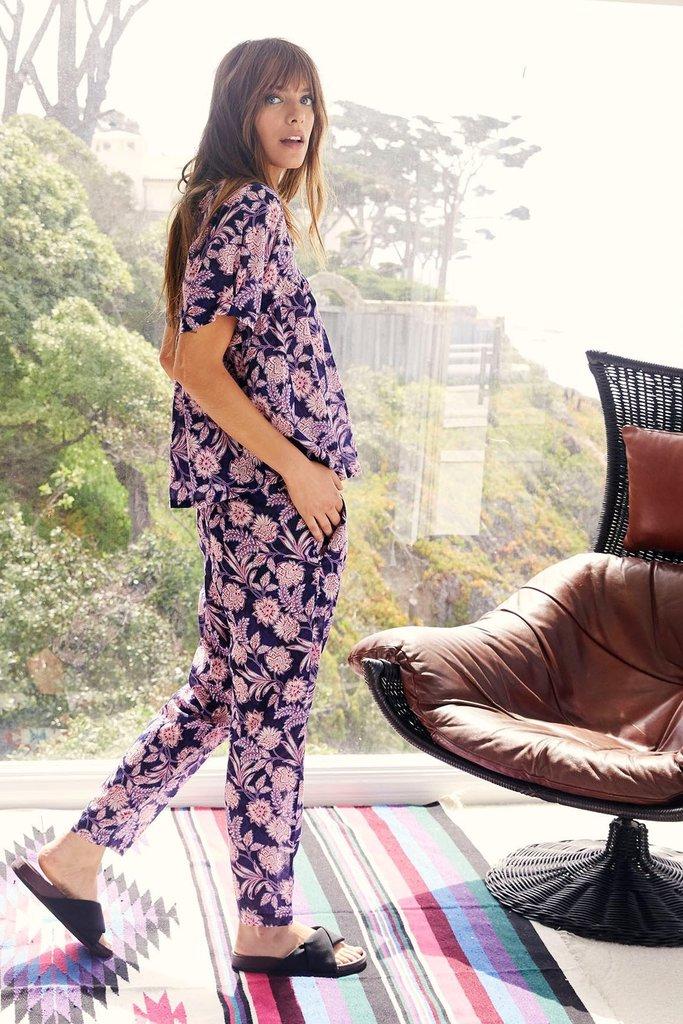 Xirena Floral Print Casual Cotton Pants