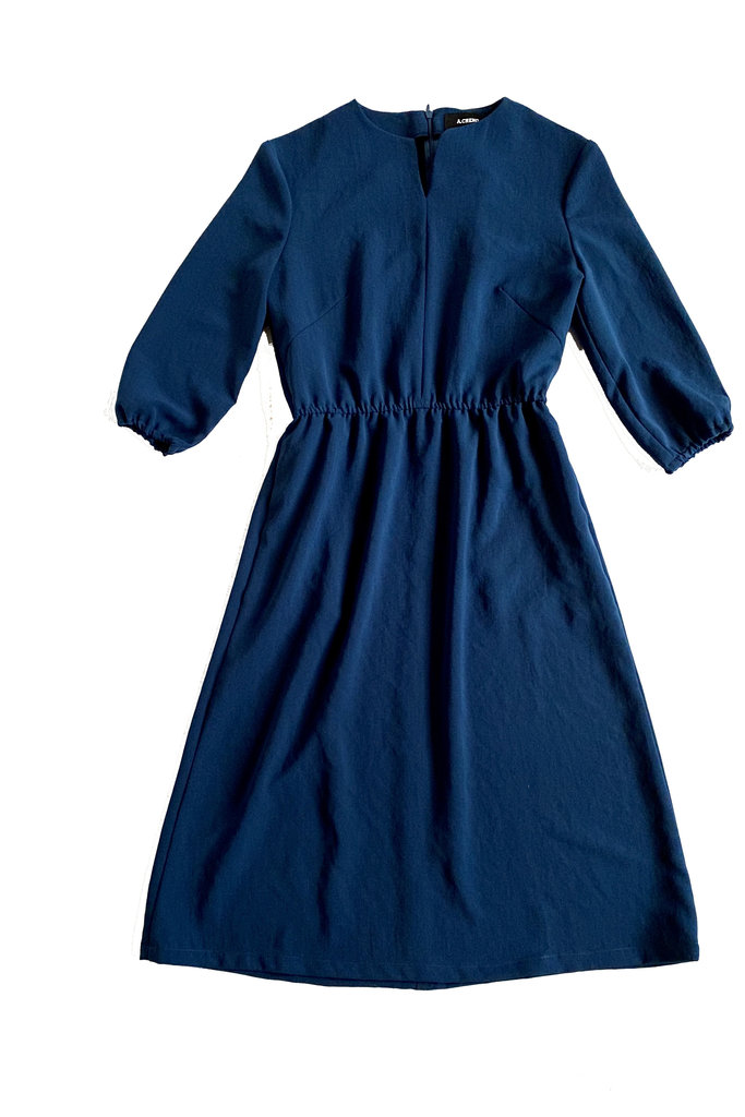 A. Cheng Split Neck Quarter Sleeve  Dress